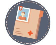 icoon medisch dossier patient of familielid